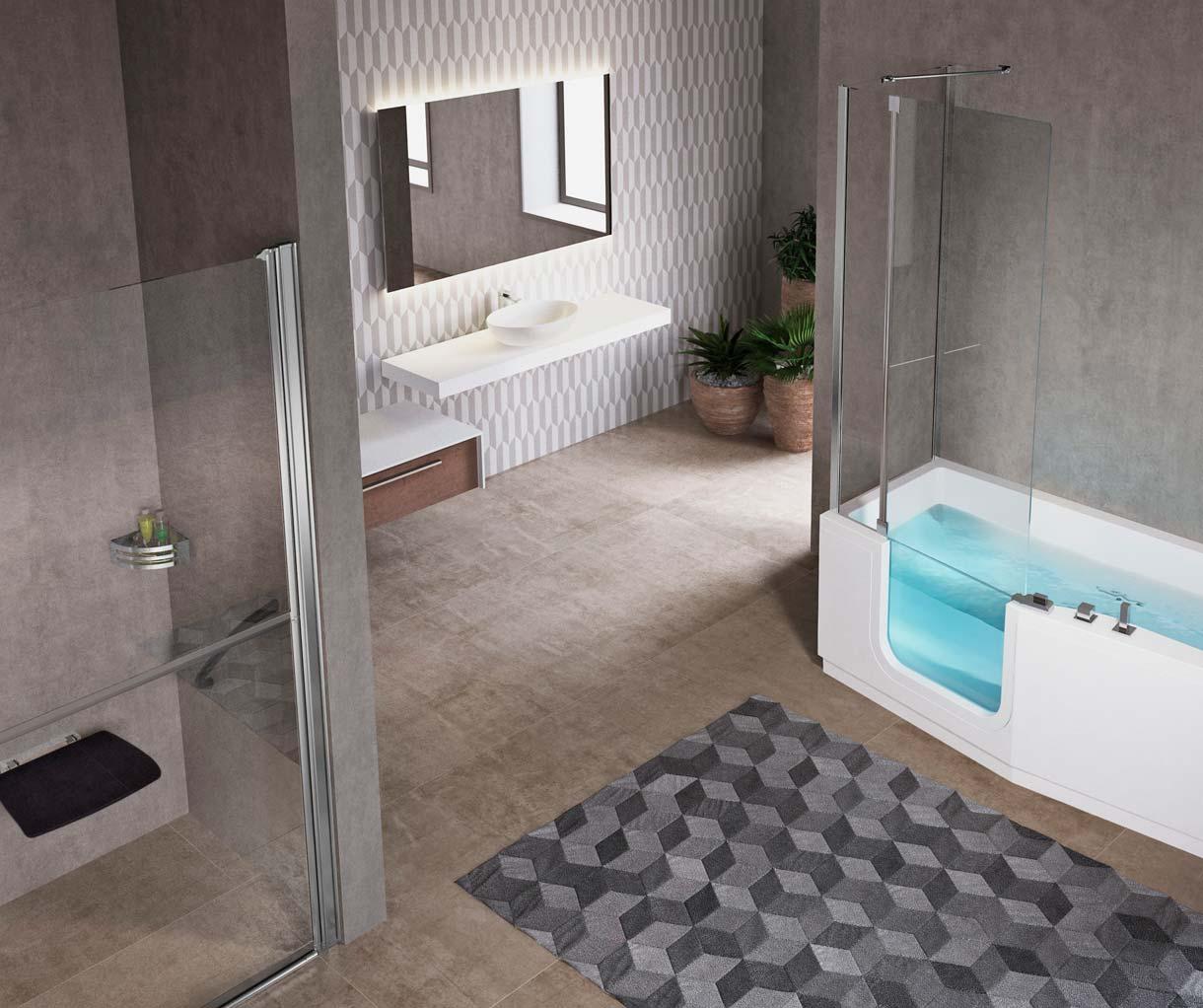 Aménagement salle de bain personnes âgées - Salle de bain pour