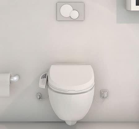 WC suspendu lavant et séchant