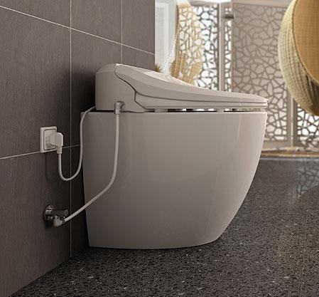 WC rehaussé avec cuvette lavante et séchante