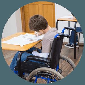 Enfant handicapé à l'école
