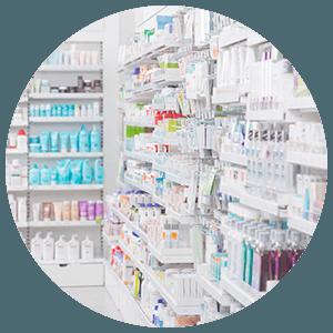 Intérieur d'une pharmacie