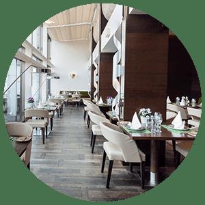 Restaurant d'un hôtel